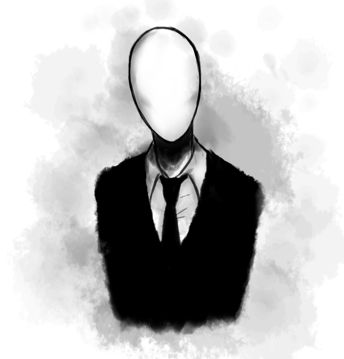 how to draw slenderman easy