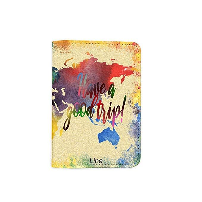 JiaoL Car Tree Art Leather Passport Holder Cover Case Travel One Pocket
