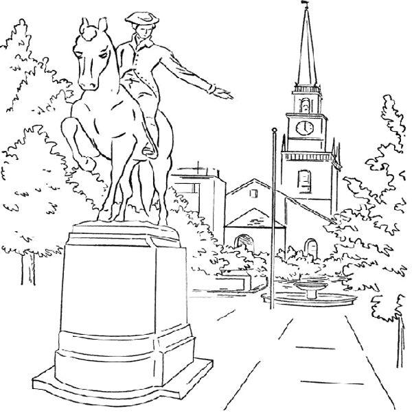 Sculpture Paul Revere Coloring Page | Kids Coloring Pages | Pinterest