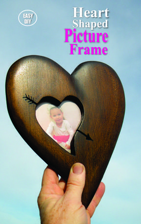 Diy wood heart picture frame valentines day craft project free step diy valentines day craft projects solutioingenieria Image collections