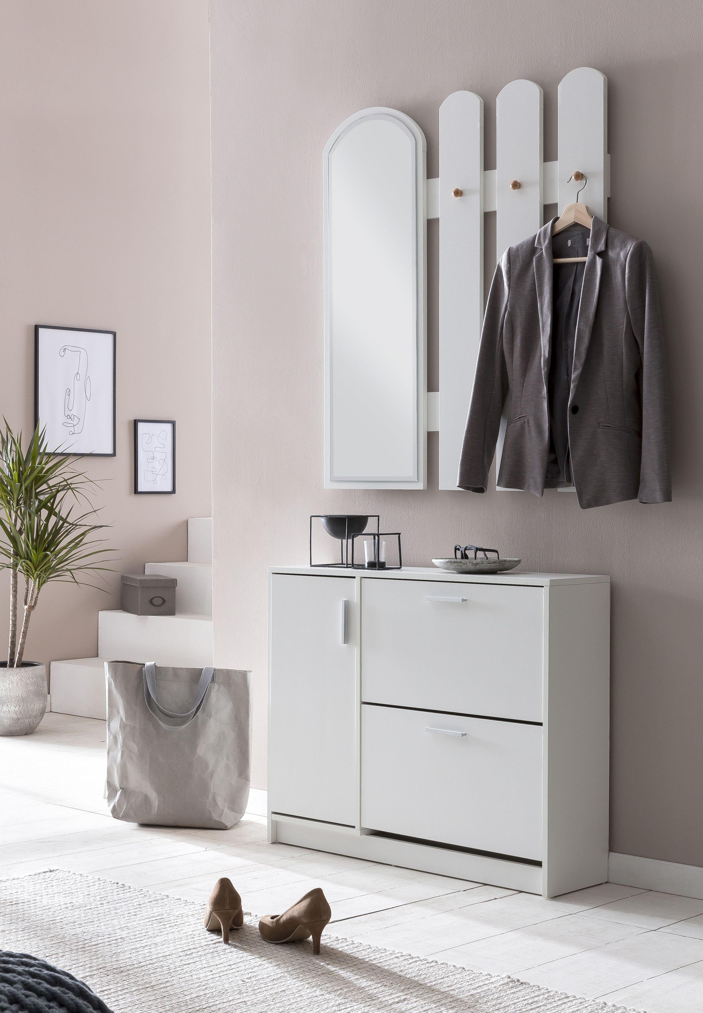Kleiderhaken Garderoben Leiste Spiegelpaneel Flur Schrank Wand