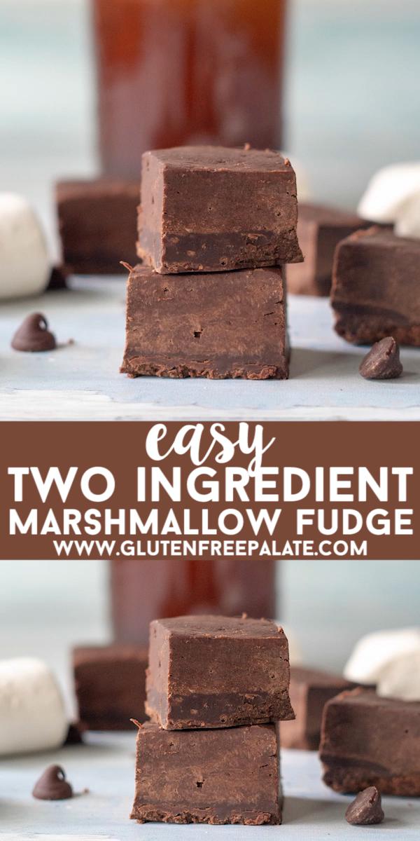 Two Ingredient Marshmallow Fudge – Easy Fudge Recipe!