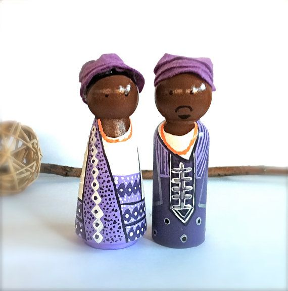 Ethnic African Wedding Cake Toppers Bride By CreativeButterflyXOX 7000