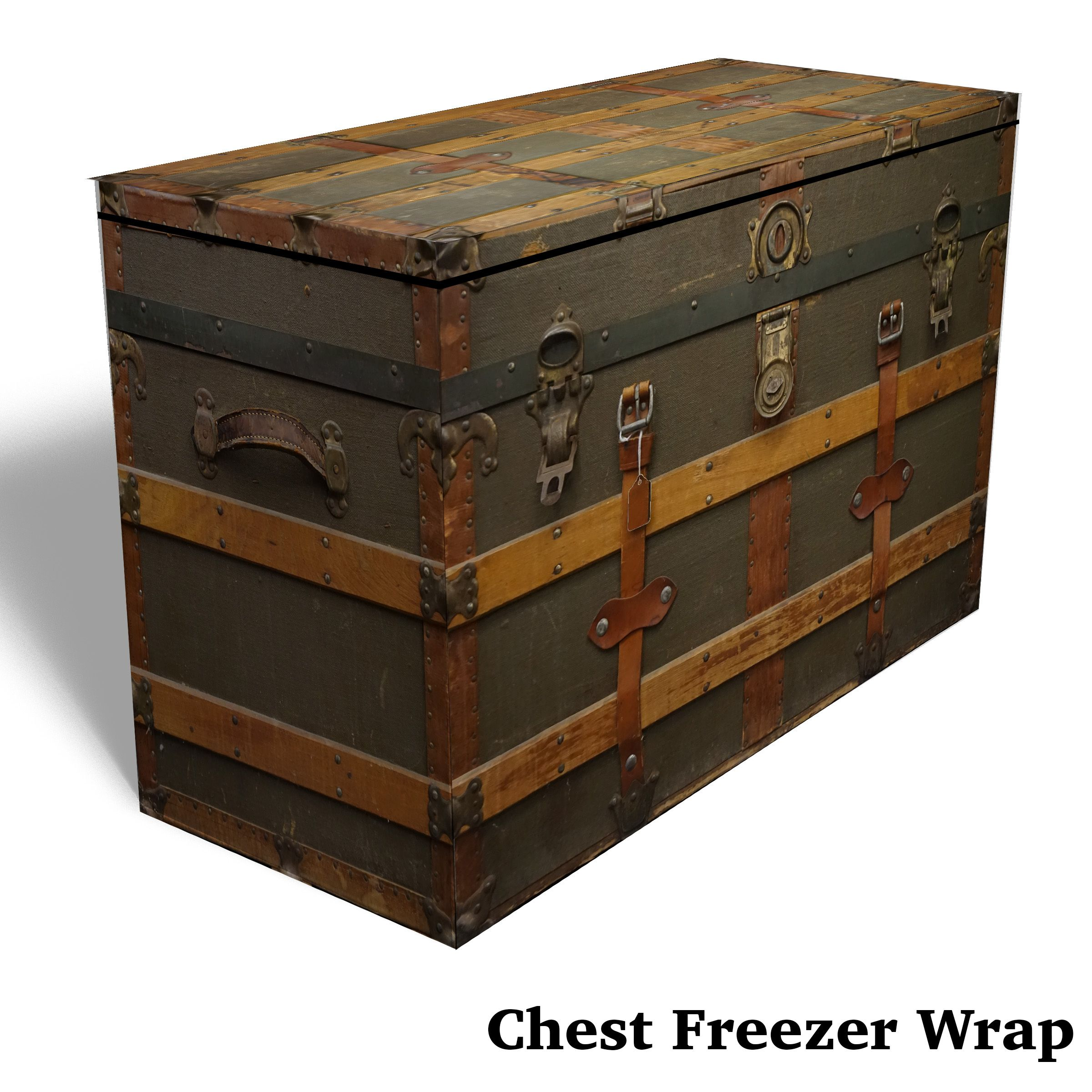 Chest Vintage Trunk Chest Freezer Wrap Rm Wraps Can Custom