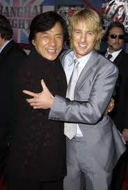 Celebrities Jackie Chan And Owen Wilson At Event Of Shanghai Knights