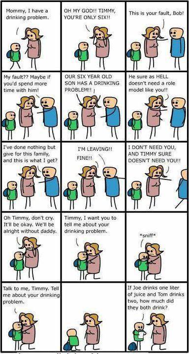 Funny cartoon comic strip