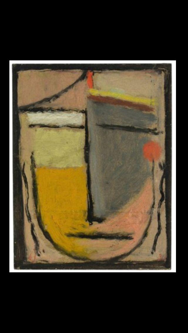 "Alexej Von Jawlensky - "" Abstrakter Kopf : Errinerung an Pompeji "", 1930 - Oil on cardboard - 15,5 x 11,9 cm"