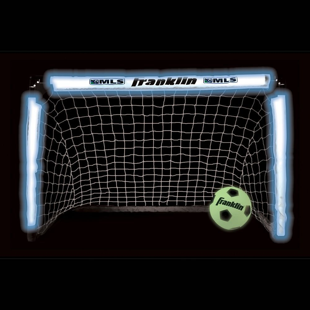 8cb499c44 Franklin MLS Light-Up Soccer Goal and Glow-in-the-Dark Ball Set, Multicolor
