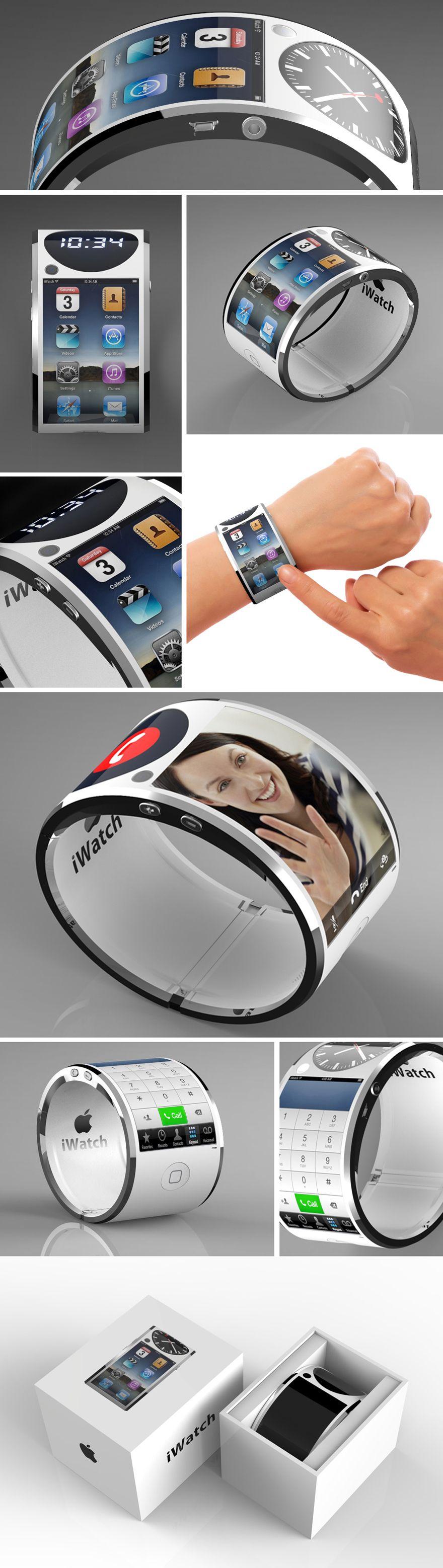 Un interesante concepto de iwatch con doble pantalla design