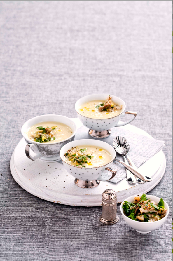 Vichyssoise with mackerel