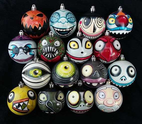 Any character nightmare before christmas ornaments pick your any character nightmare before christmas ornaments pick your favorite hand painted highly detailed shatterproof made just for you solutioingenieria Images