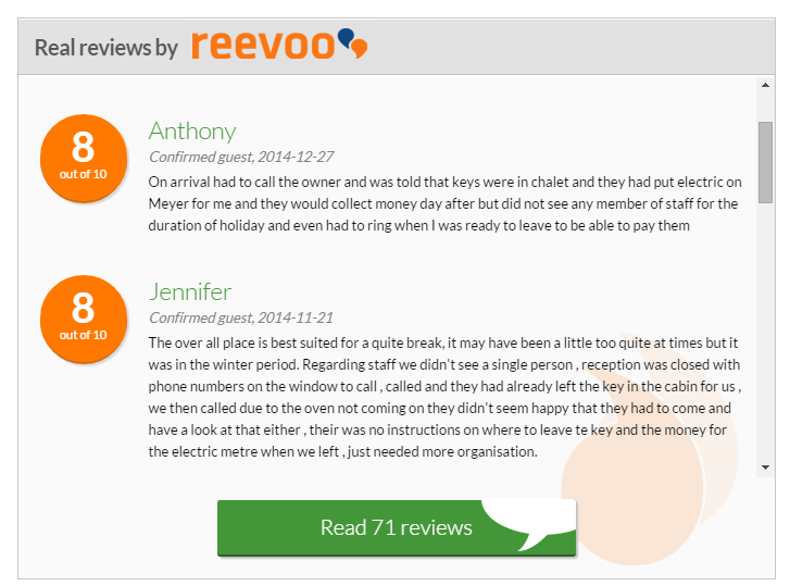 Hoseasons Displays Its Real Customers Reviews Using The Reevoo Api