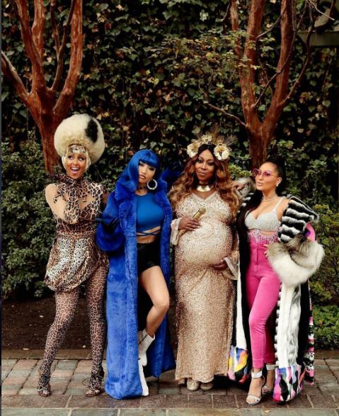BeyonceNickiLil Kim and Cardi B dress up for Halloween