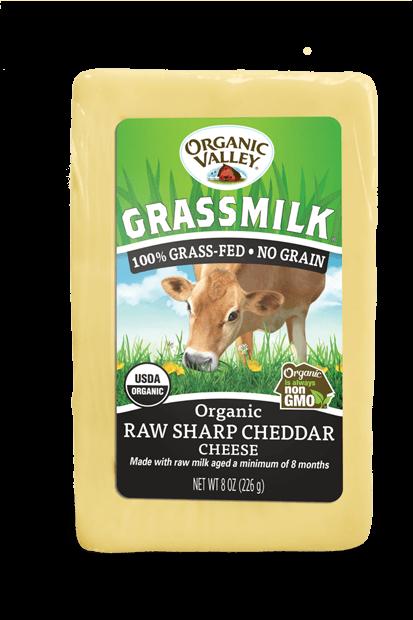 grassmilk raw sharp cheddar 8 oz  organic valley