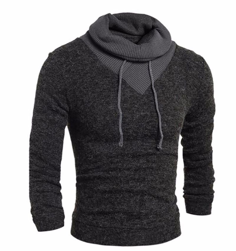 New Turtleneck Sweater Stylish Knitted Long Sleeve High-Neck pullover Sweaters Men Sweater Male Sweaters Pullover Tops Clothing