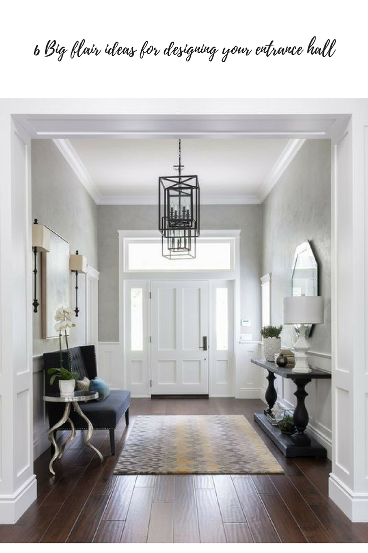 Does your entrance hall have big decor with flair? Maybe it should ...