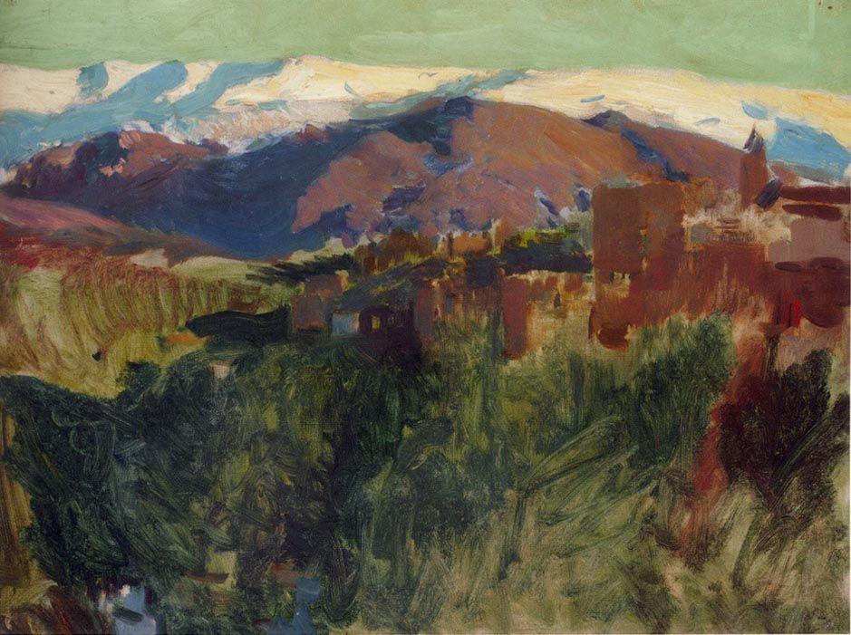 Sierra Nevada from the Alhambra Grenada Painting | Joaquin Sorolla y ...