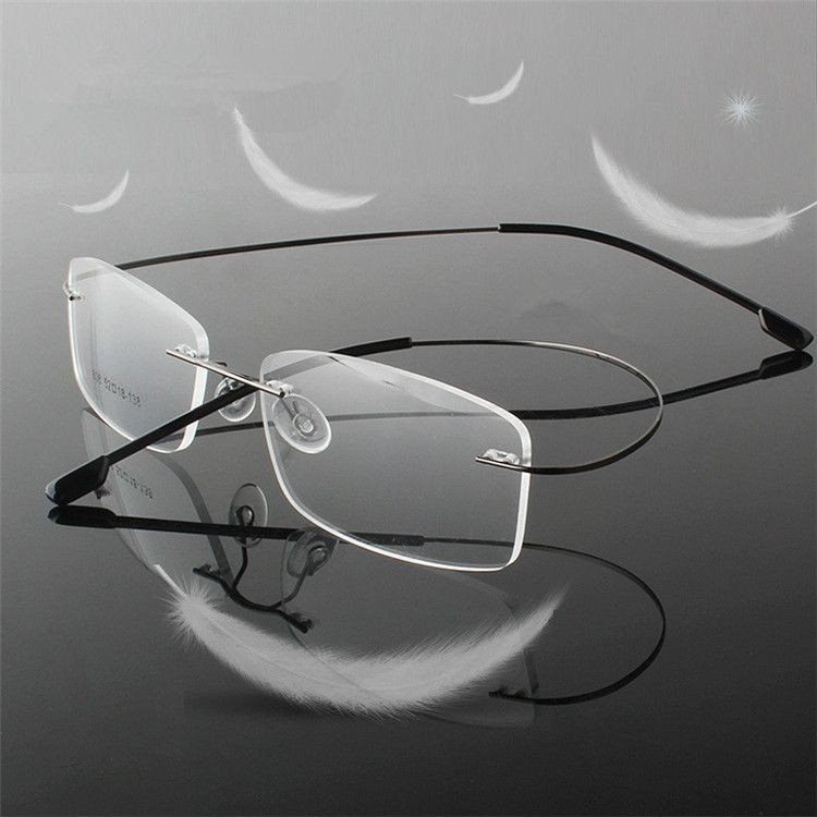 Rimless Titanium Ultra light  reading glasses +1 +1.5 +2 +2.5 +3 +3.5 +4Rimless ochki dlya chteniya sin montura gafas de lectura