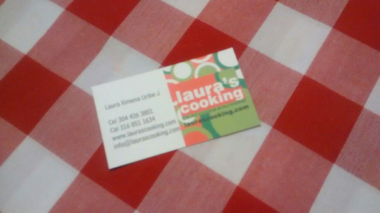 Laura's Cooking Biz Card
