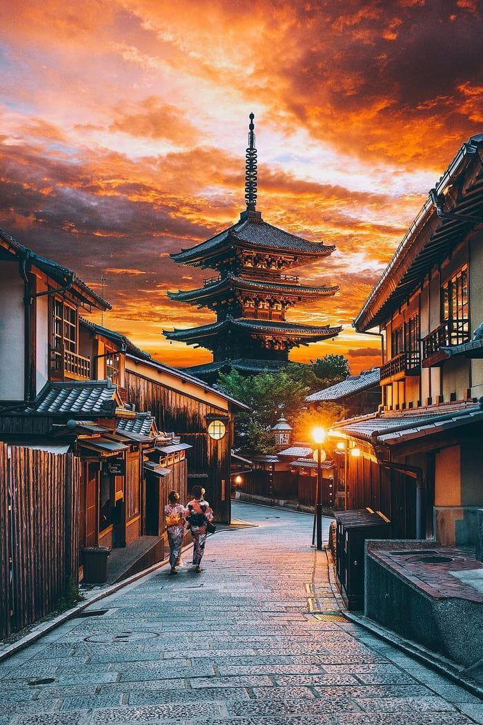 Sunset over Kyoto, Japan | Photo by Jacob Riglin