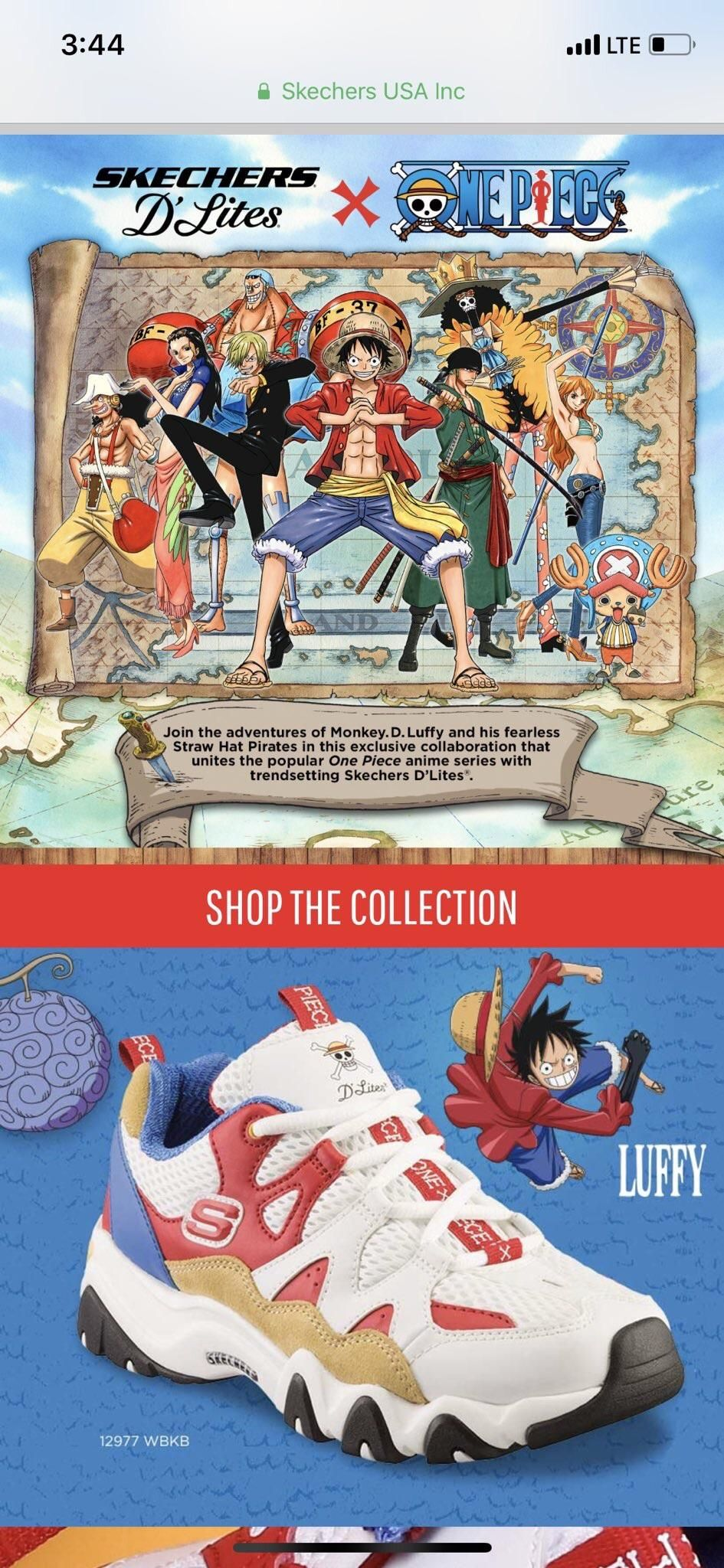 41a1d346b251 One Piece x Skechers Collab