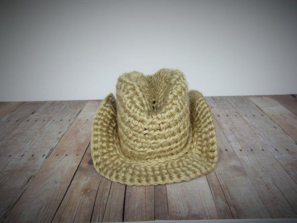 74cee32369f Handmade crochet cowboy hat