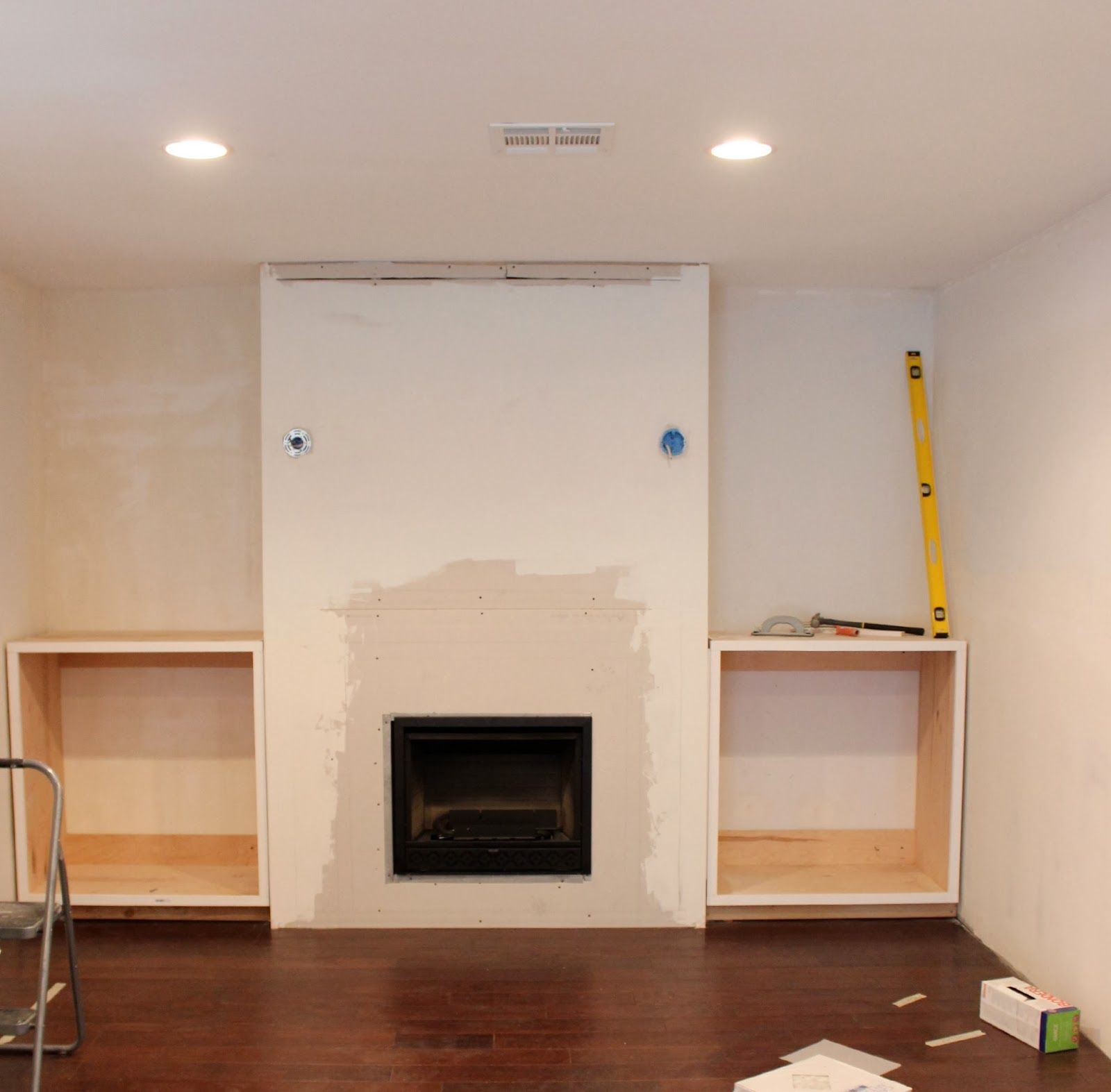 Cabinets And Fireplace Surrounds: Built In Fireplace And Cabinets Tutorial