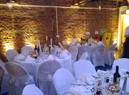 Lighting On Brick Wall Wedding Venues London Reception