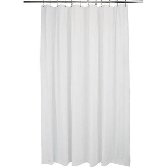 Bath Bliss Extra Long Shower Curtain Liner White 72x84 Shower