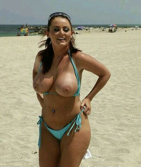 Nude women there tits popping out of bikini