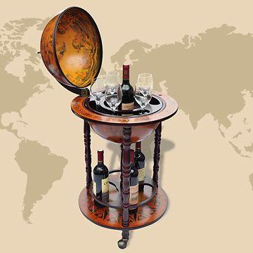 Minibar Globusbar Globus Bar Hausbar Weltkugel Cocktailbar Dekobar