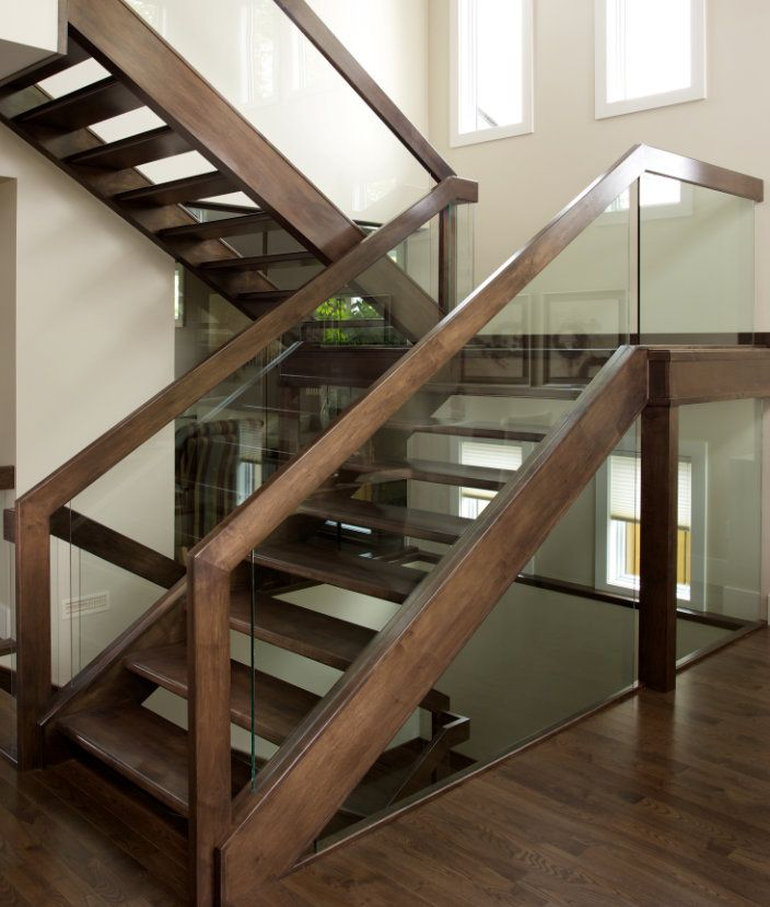 Best We Designed An Open Rise Maple Stair With Dadoed Glass 400 x 300