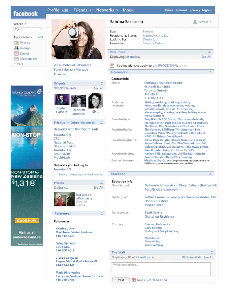 Curriculum Facebook | Grafica e design - curriculum | Pinterest