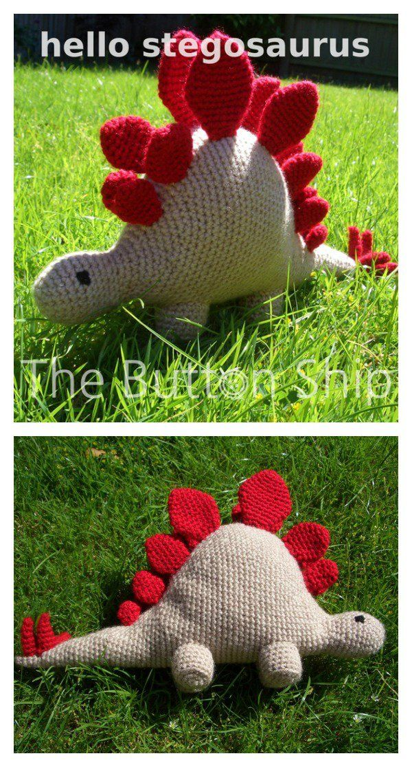 Crochet Amigurumi Dinosaur Free Patterns | Häckeln, Amigurumi und Häkeln