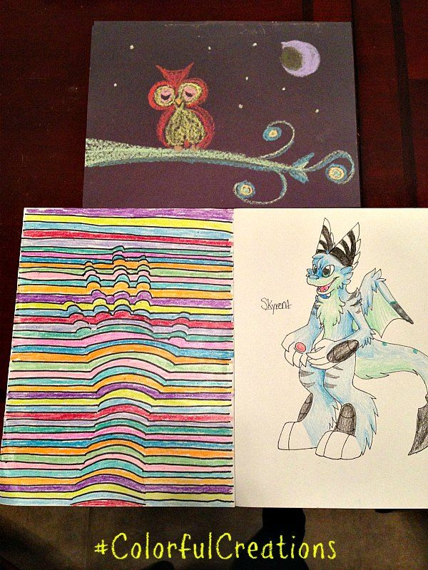 Kids Craft Project Ideas Part - 50: Kids 3D Art Project Idea Using Crayons And Chalk! #ColorfulCreations #Shop  #Cbias