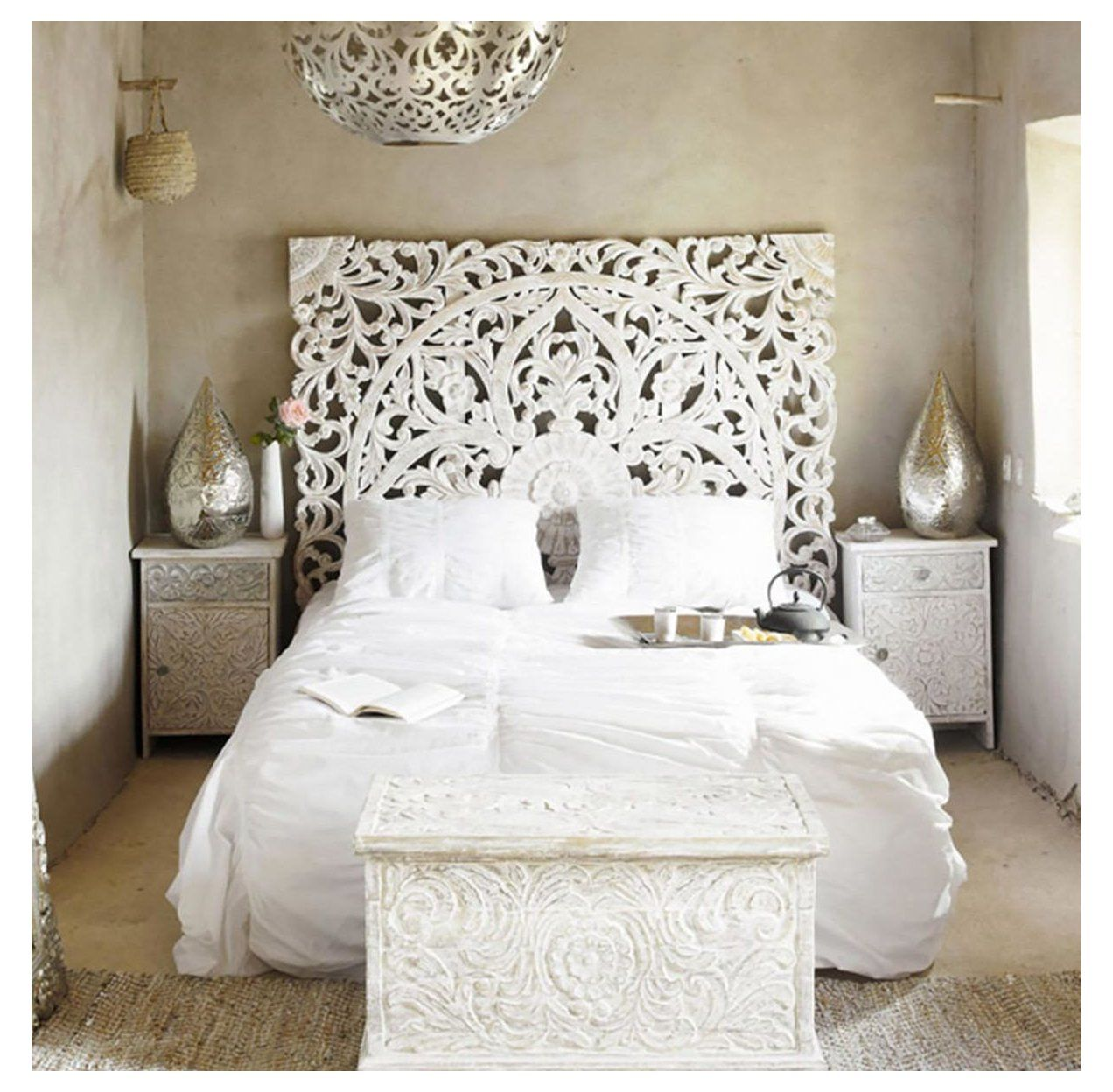 King Size Balinese Headboard Wood Carving Handmade In Chiang Mai Headboards For Beds White Bed He In 2020 Headboards For Beds Bed Headboard Wood Bedroom Headboard