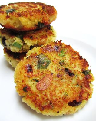 Couscous Cakes  This seems like a good way to use up leftovers!