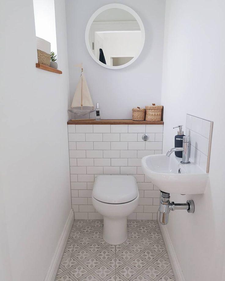"Photo of Jade on Instagram: ""Day 6 @myhousethismonth Rug/Flooring: has to be our downstairs loo @lauraashleyuk Mr Jones floor tiles ❤️ still looking as good as the day…"""