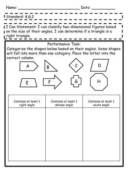 Performance Tasks For 4th Grade Math Common Core