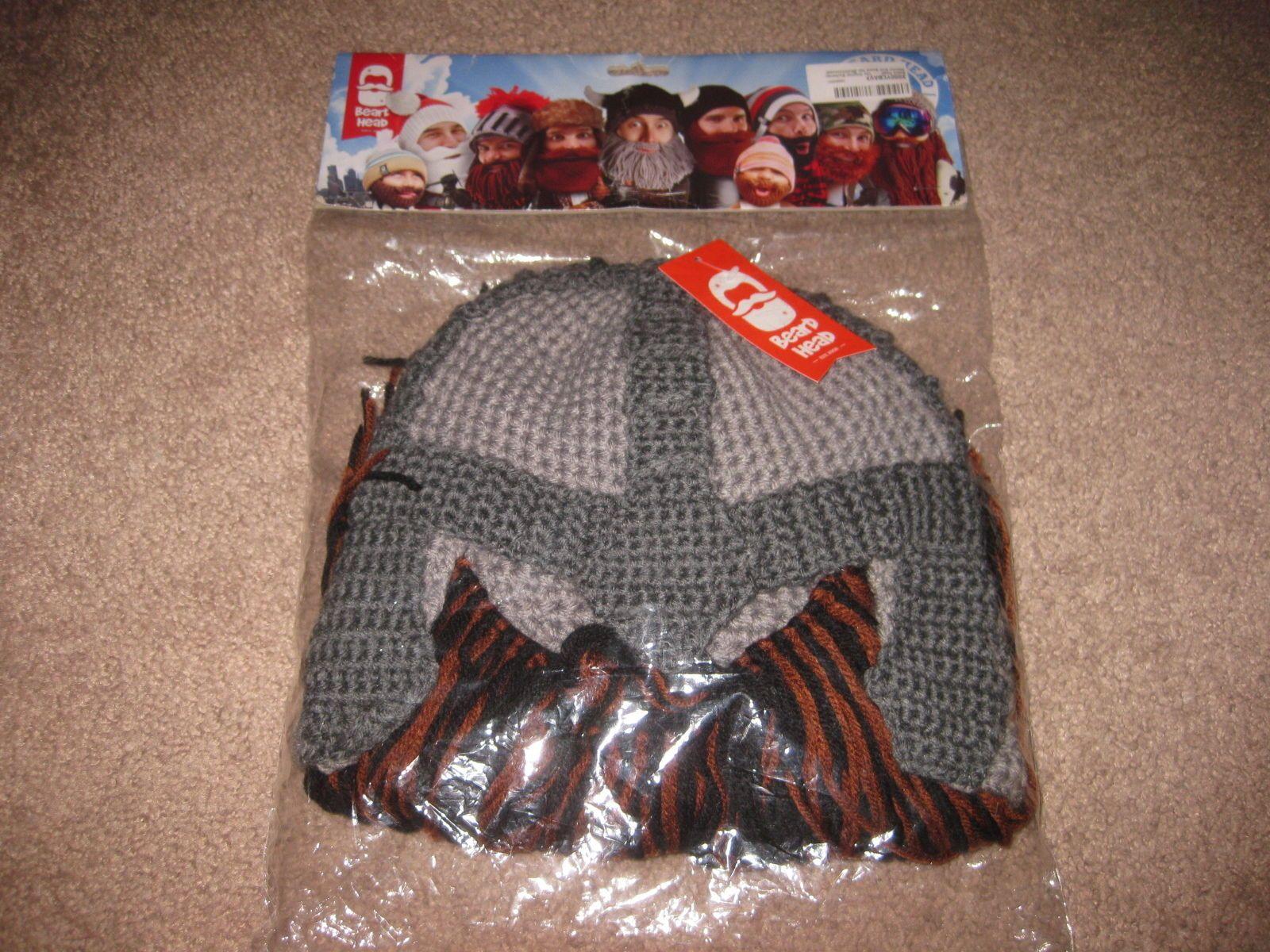 8ddbff75013 Hats and Headwear 62175  Beard Head - The Original Barbarian Warrior Knit  Beard Hat Multi