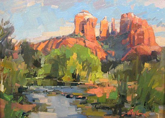 Art Cocoon Blog Brad Holt Sedona Landscape Paintings Desert Painting Fine Art Landscape