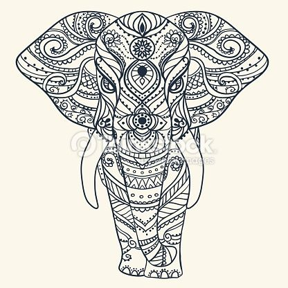 Elefante Mandalas Buscar Con Google