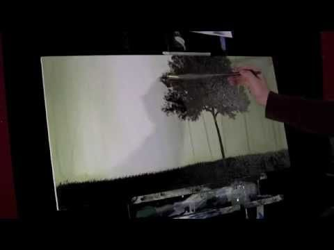 Time Gagnon time-lapse speed painting trees