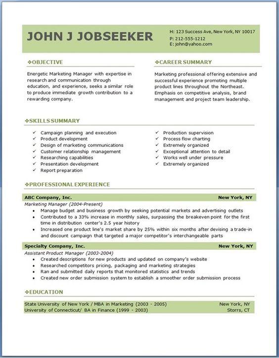 ECO executive level resume template | Cévé | Pinterest