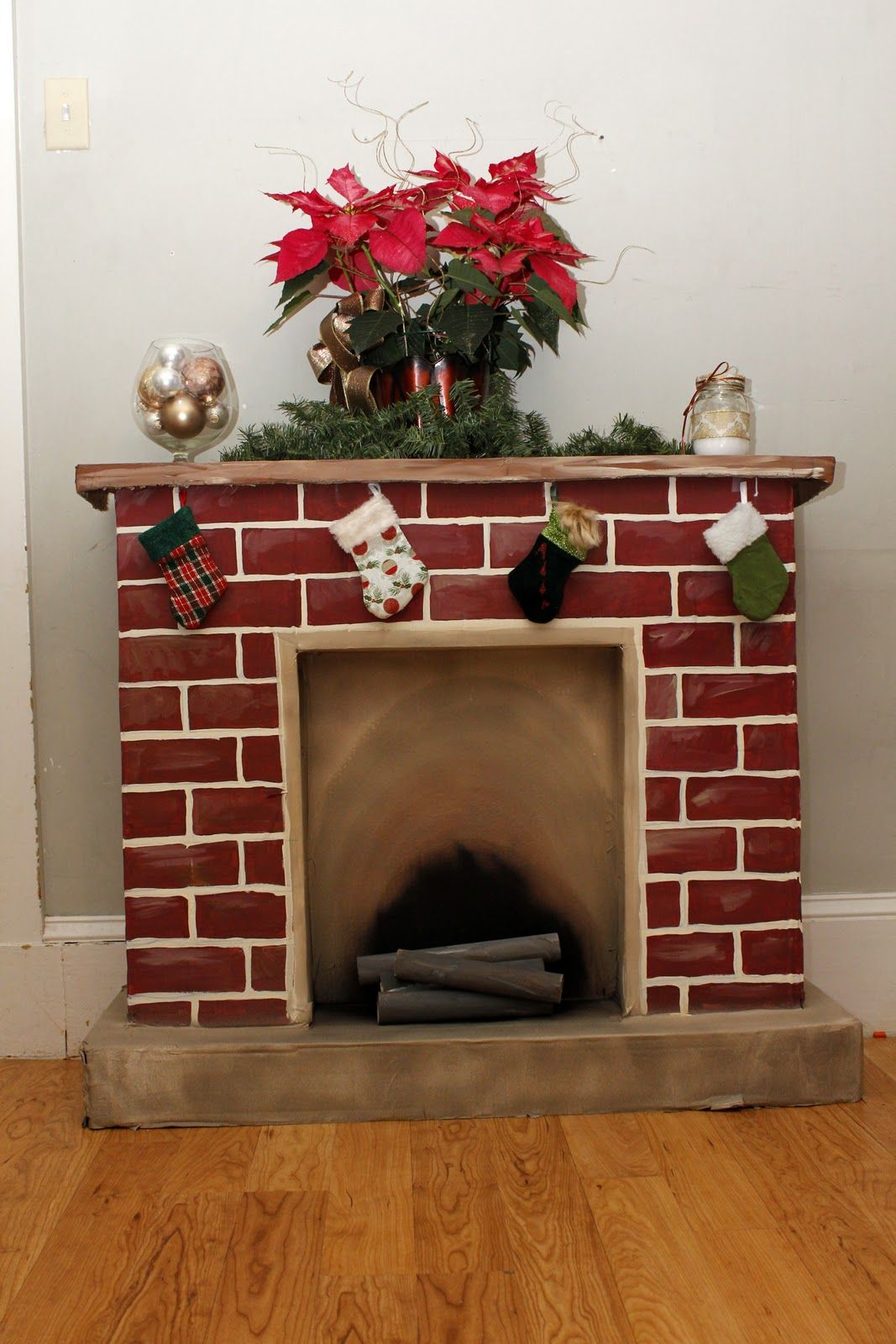 365 Days to Simplicity: Chestnuts roasting on an cardboard fire... Diy  Christmas FireplaceCardboard ...