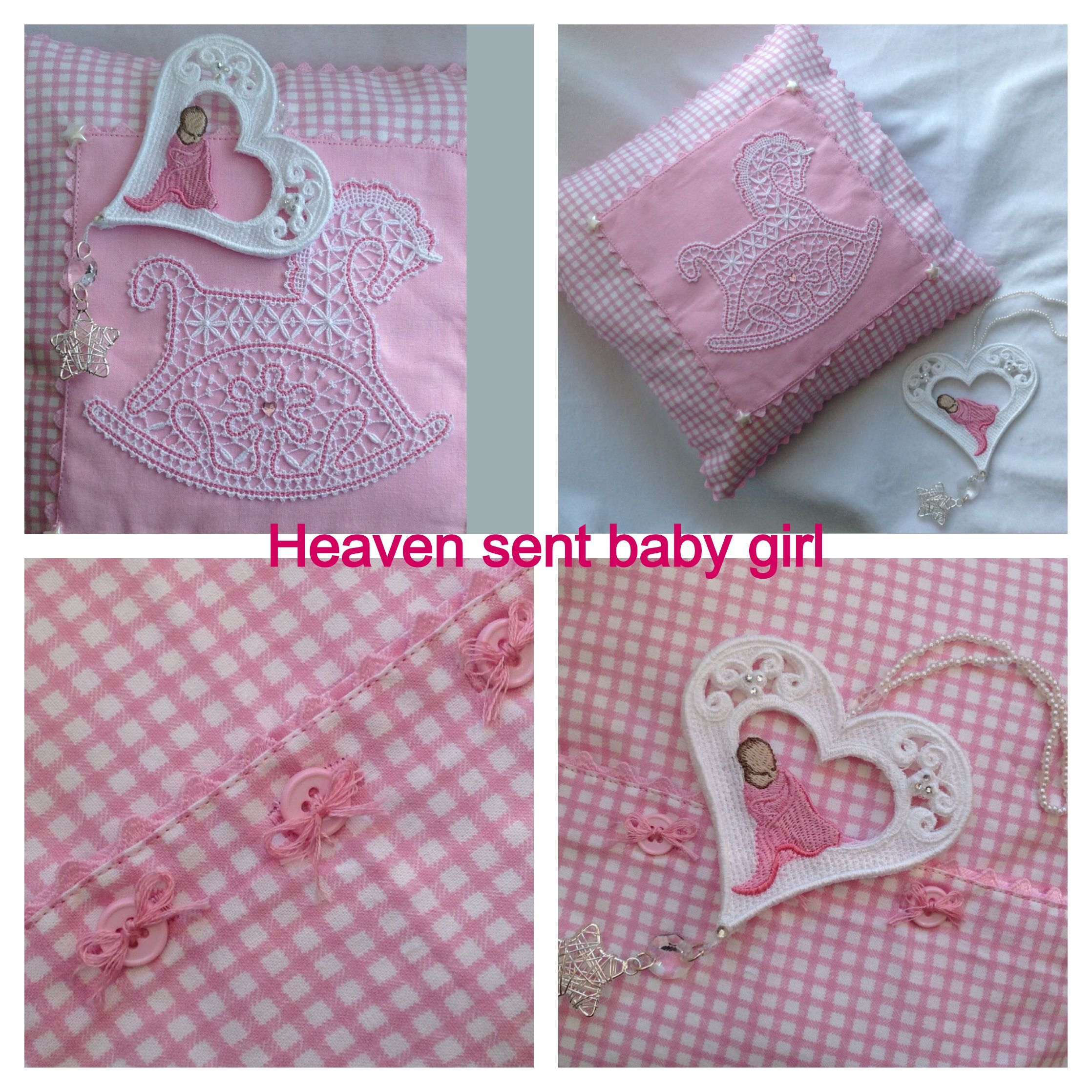 Heaven sent baby girl gifts....   My friends makes   Pinterest
