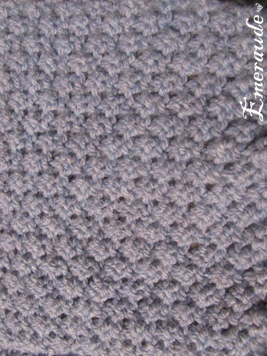 b94d0f4ce5f8 comment tricoter le point irlandais   Knitting stitches   Tricot ...