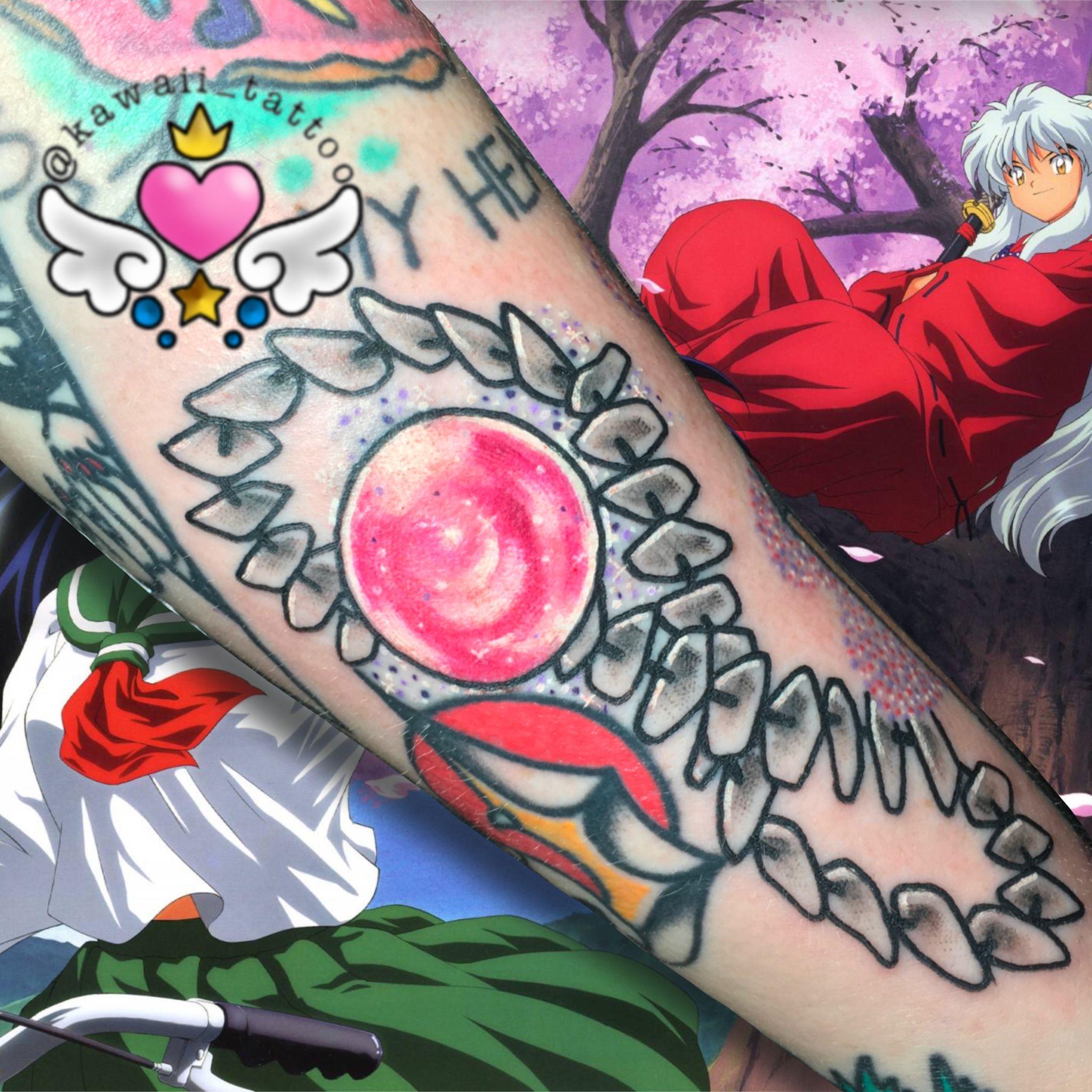 Inuyasha Shikon Jewel Necklace Tattoo Done By Me Email Kawaiitattoo