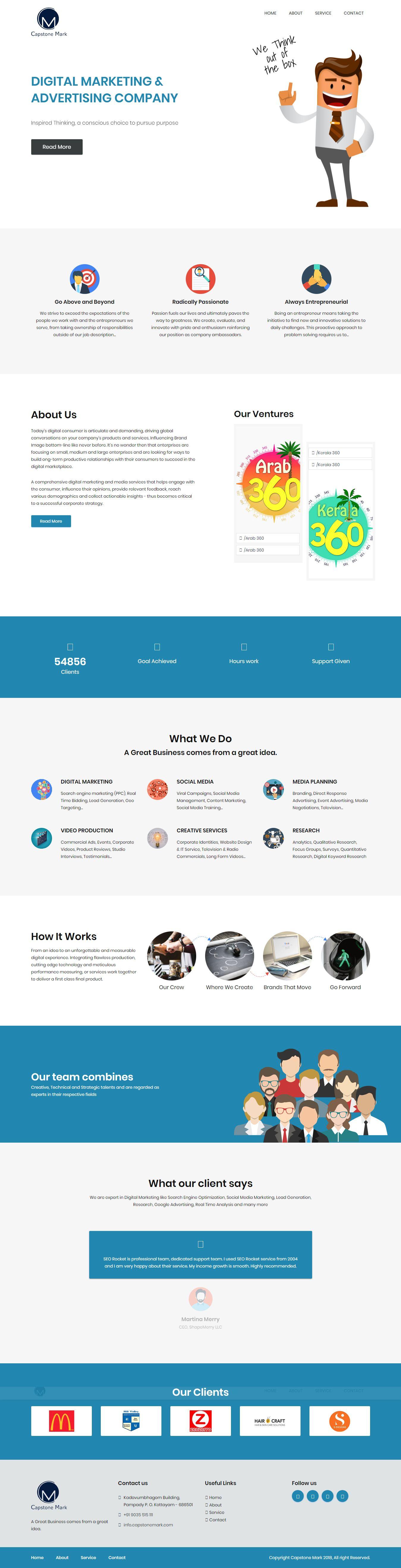Capstone Mark - Static Website created by www riolabz com