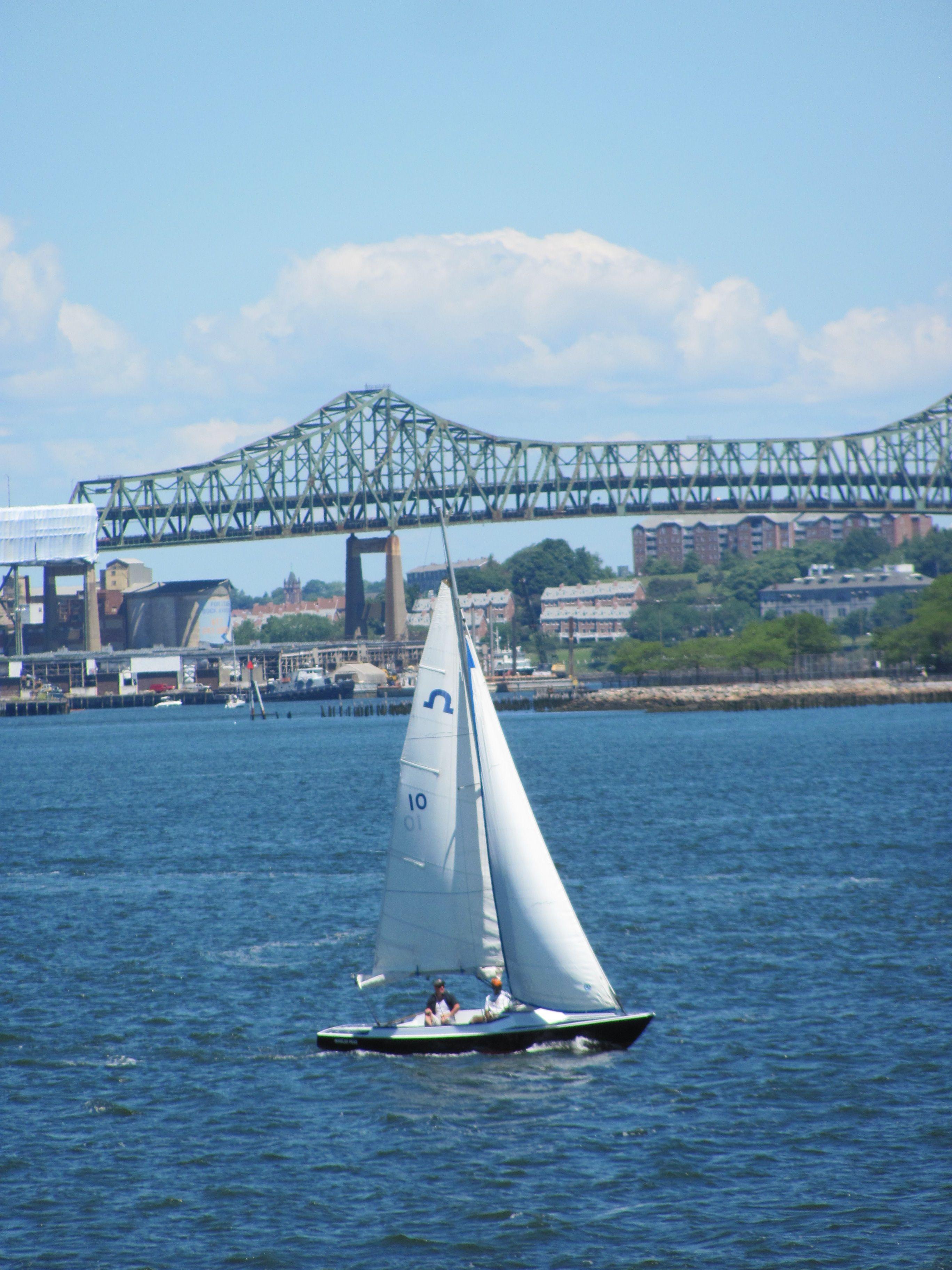 Boston harbor mystic river bridgemml mystic